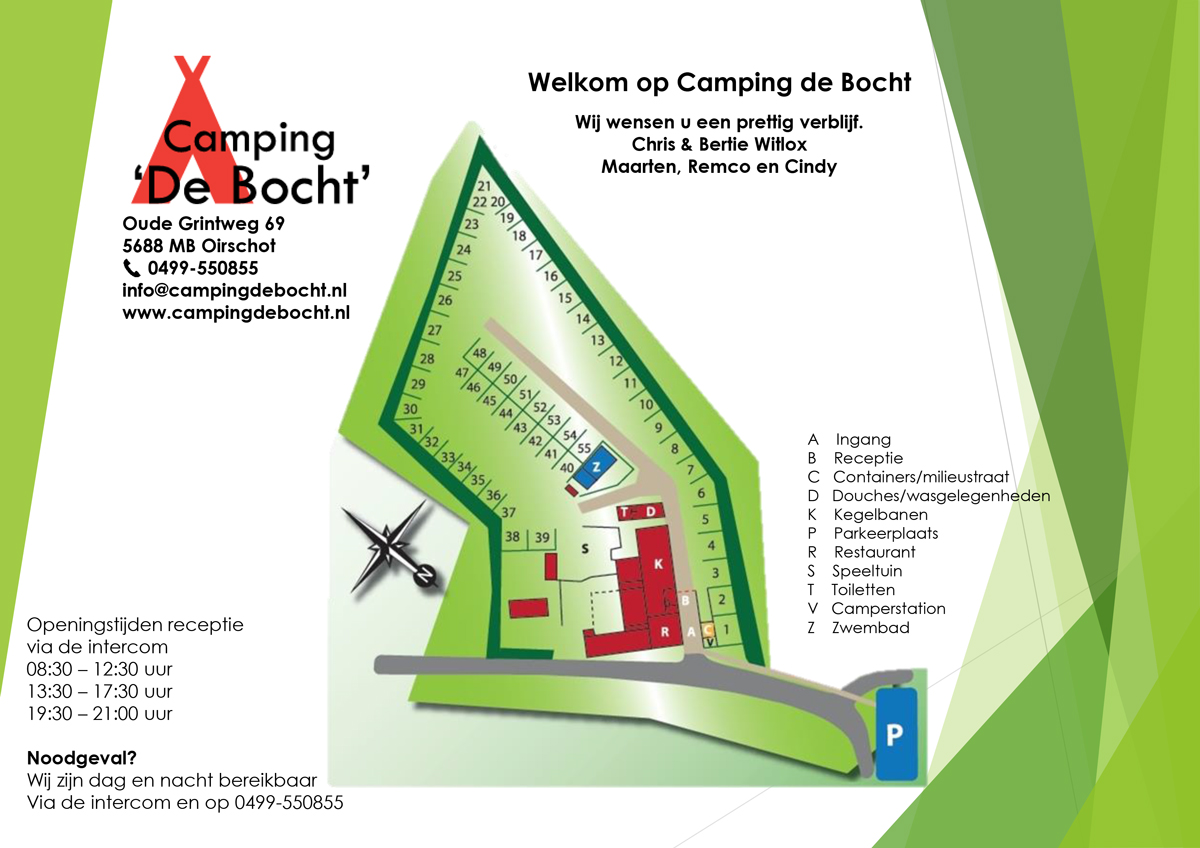 Map Camping de Bocht